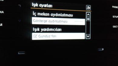 Photo of Gündüz Farını Araç Bilgi Ekranından Açma Kapama
