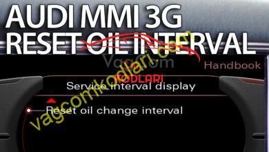 Photo of Audi MMI 3G Yağ Değişim Uyarısı Sıfırlama