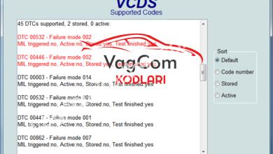 Photo of VAG COM Hata Kodları Listesi